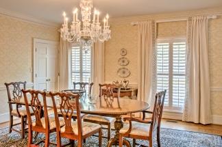Traditional Dining Room Custom Drapery Panels